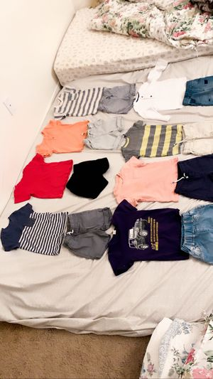 Baby Kids boys clothes shirts pants short good condition size 24- months to 2T 27 Pieces for all $35.Price firm for Sale in San Diego, CA