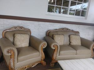 Futon sofa and lether sofa for Sale in Hialeah, FL