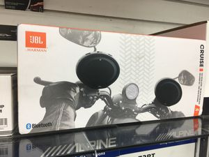 "JBL HARMAN CRUISE 2.5"" Bluetooth speakers handlebar kit motorcycle Harley triumph Suzuki victory $179 for Sale in Downey, CA"