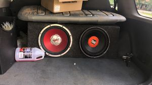 """12"""" subwoofers and head unit for Sale in Smyrna, TN"""
