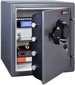SentrySafe Fireproof Safe and Waterproof Safe with Digital Keypad 1.23 Cubic Feet, Gun Metal Grey for Sale in Las Vegas,  NV