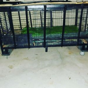 "Dog KENNEL on wheels. It's 7ft long 41""tall 36"" wide for Sale in Fresno, CA"
