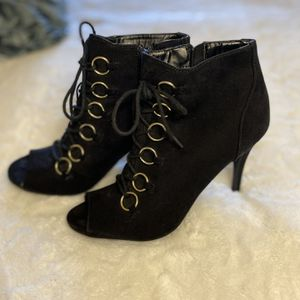 Black Peep Toe Booties for Sale in Aloha, OR
