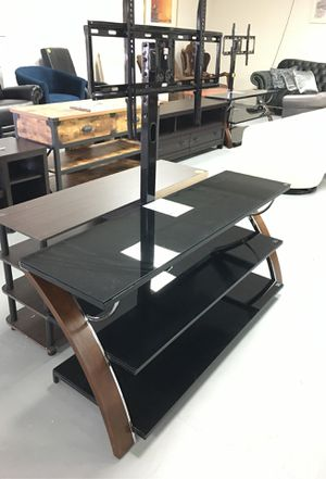 "Glass Tv stand Up To 65"" Brand New for Sale in Houston, TX"