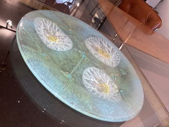 Mint Green Design Glass Plate for Sale in Chicago, IL