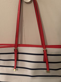 HANDBAG : RED WHITE AND NAVY for Sale in San Angelo,  TX