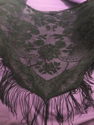 Black Lace Shawl with Fringe for Sale in Arvada, CO