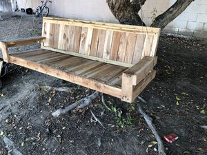 Wood porch swing for Sale in Alta Loma, CA
