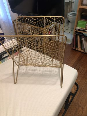 Gold Magazine Rack for Sale in Huntsville, AL