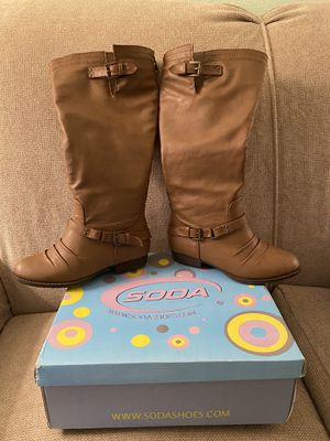 Soda brand riding boots for Sale in Buffalo, NY