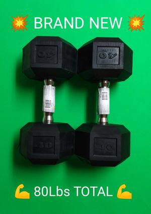 BRAND NEW DUMBBELLS / 80LBS TOTAL for Sale in Phoenix, AZ
