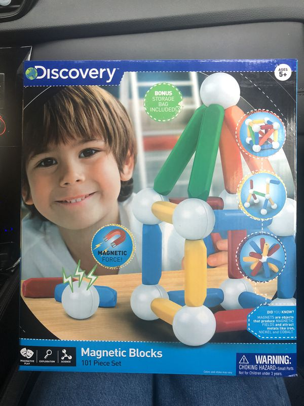 Discovery magnetic blocks. Ages5+. Brand new