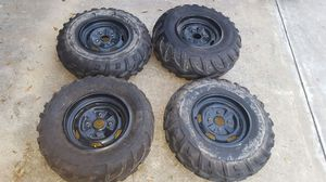 Atv rim and tires for Sale in Houston, TX