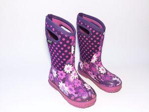 Girls Bogs Classic Purple Daisy Rain Winter Snow Boots Kids Size 1 for Sale in Boulder, CO