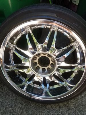 """Rims and tires 20""""5/4.5 universal for Sale in Portland, OR"""