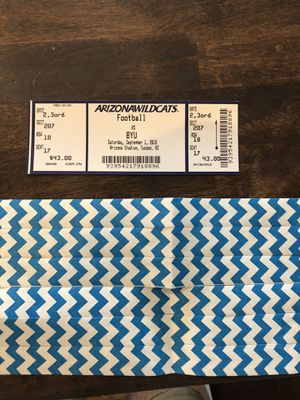 BYU VS Arizona Football ticket single - include BYU Alumni Tailgate event for Sale in Fort McDowell, AZ