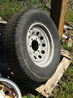 4- 6 lug trailer tires&galvy wheels for Sale in Boston, MA