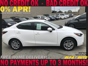 2018 Toyota Yaris white ia clean title automatic gas saver finance lease car dealer uber lyft for Sale in Long Beach, CA