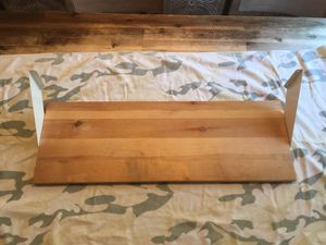 "For wall shelves – pine with white brackets - 27 1/2 x 9 1/2"" - five dollars each for Sale in Woodbridge, VA"