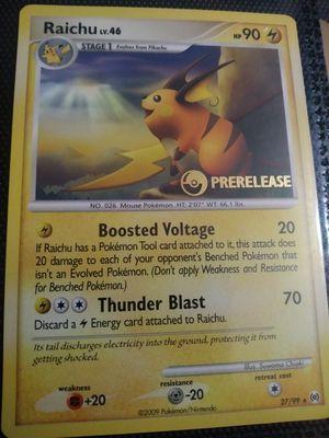 Pre release raichu pokemon card for Sale in Tucson, AZ