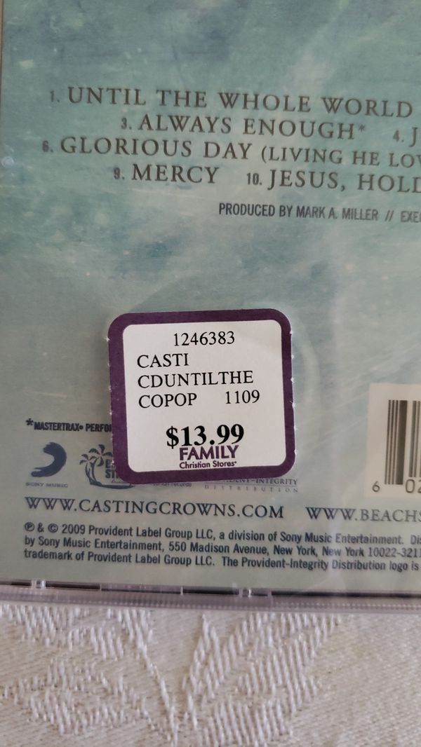 New Casting Crowns Music CD Until The Whole World Hears Christian Christianity Read Below