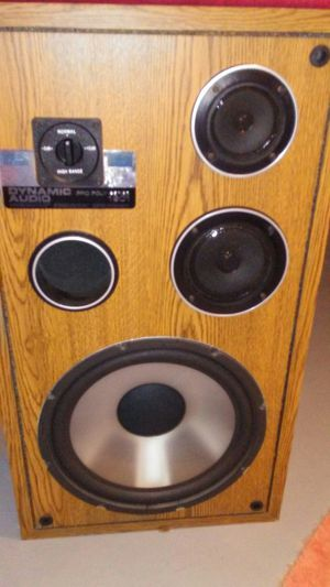 Dynmic audio three way speakers for Sale in Williamstown, NJ
