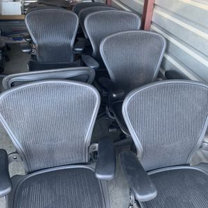 HERMAN MILLER AERON OFFICE CHAIRS , FULLY LOADED $380 EACH TODAY ONLY for Sale in Covina, CA