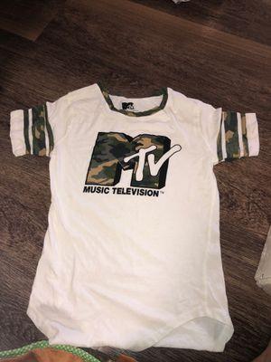 Mtv camo/white shirt for Sale in Hayward, CA