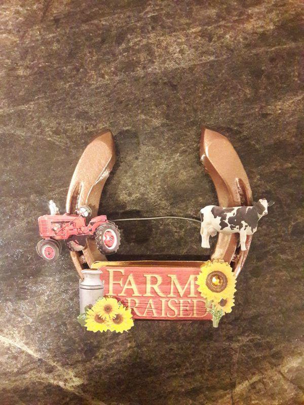 Tractor Farm horseshoe door hanger