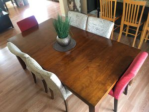 Dining table with 6 chairs for Sale in Brighton, CO