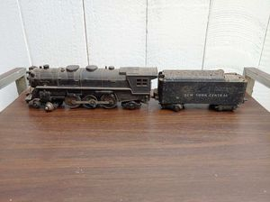 "Marx Trains 333 Smoker train Engine ""o"" gauge. 1950's 1950s model with New York Central coal car. Estate sale find, not tested locomotive toy for Sale in Orange, CA"