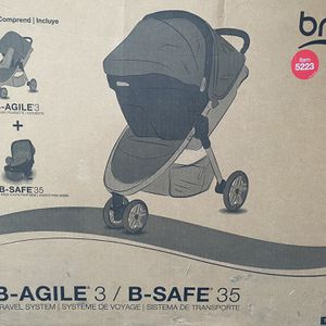 Britax B- Agile B-Safe 35 Travel System Stroller plus Car Seat for Sale in Huntington Beach, CA