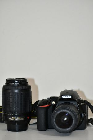 Nikon D5600 touchscreen DSLR with 2 lenses for Sale in Dallas, TX