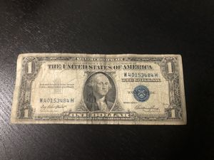 1935 one dollar bill silver certificate blue seal very rare for Sale in Fort Washington, MD