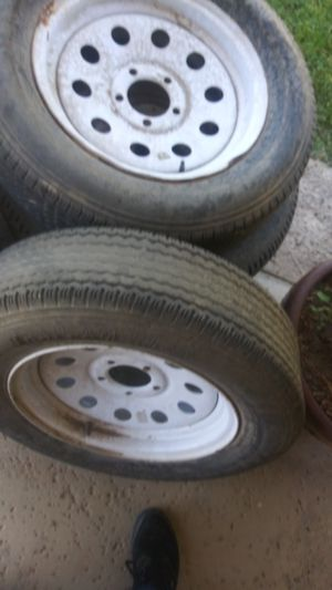 Trailer wheels mostly all good 60% for Sale in Romoland, CA