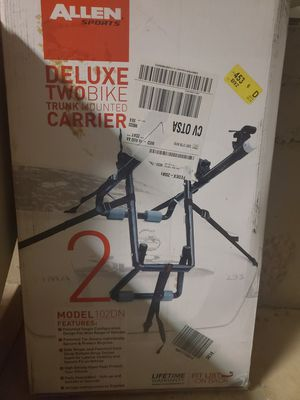 Deluxe two bike trunk mounted carrier for Sale in Kirkland, WA