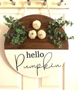 """Wood door hanger """"Hello Pumpkin"""" for Sale in Saugus, MA"""