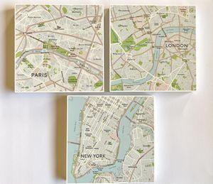 London Paris New York Wall Art Trio for Sale in Long Beach, CA