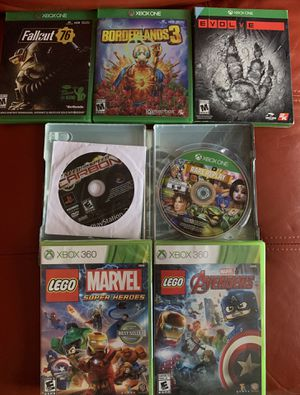 Lot of Xbox One Xbox 360 PS2 new/used games borderlands 3 for Sale in LAUD LAKES, FL