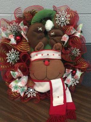 Holiday Reindeer Wreath for Sale in Inwood, WV