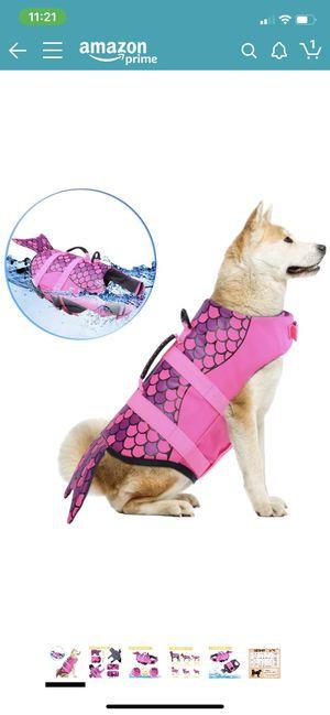 L.D Dog life jacket ripstop pet flotation life vest for Sale in Piedmont, SC