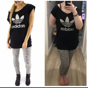 ADIDAS BONES PRINT OVERSIZED RELAXED FIT T-SHIRT & MATCHING LEGGINGS for Sale in Seattle, WA