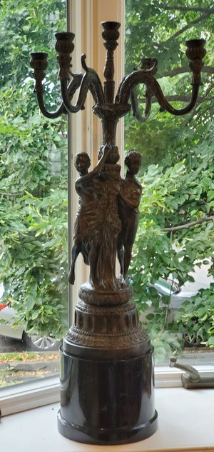 Vintage Candelabra bronze for Sale in Hackensack, NJ