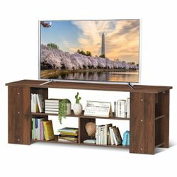 "Wood Storage Cabinet Tv Stand For Tvs Up To 50""-Coffee for Sale in Walnut,  CA"