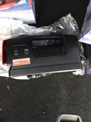 Portable Air compressor and flashlight with couplers for Sale in Dallas, TX