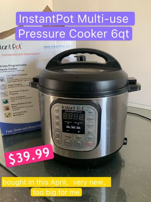 Instant Pot 6qt $39.99 +1 buck for extensive cord for Sale in Los Angeles, CA