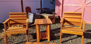 3 piece outdoor cedar furniture for Sale in Milwaukie, OR