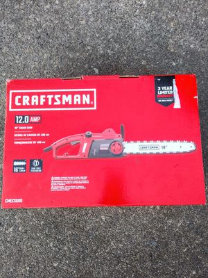 "Craftsman 16"" Corded Chainsaw for Sale in Tacoma, WA"