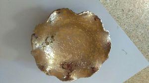 Dixon Art Studio 22kt scalloped edge bowl for Sale in Knoxville, TN
