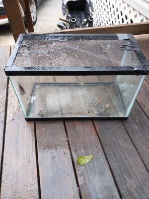 Small fish tank with cage topper. No damage to glass. for Sale in Tampa, FL